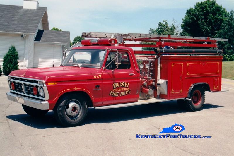 <center> RETIRED <br> Bush  Engine 7 <br> 1973 Ford F-350/Allegheny 500/250 <br> Greg Stapleton photo </center>
