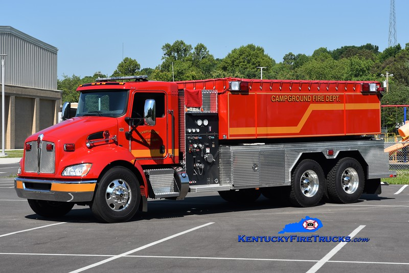 Campground Tanker 2<br /> 2019 Kenworth T-300/Fouts Bros 500/3000<br /> Greg Stapleton photo