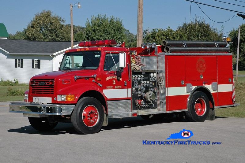 Crossroads  Engine 3<br /> 1999 International 4900/Pierce 1250/1000<br /> Greg Stapleton photo