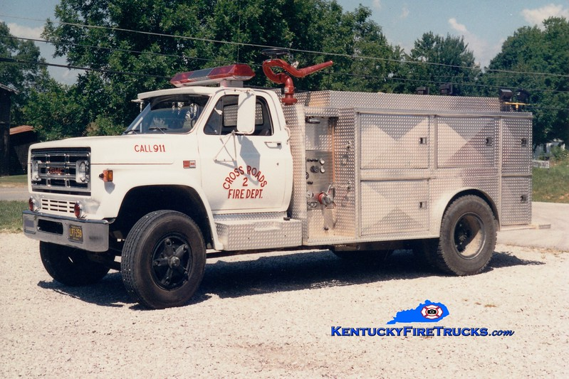 <center> RETIRED <br> Crossroads  Tanker 2 <br> 1985 GMC/Local 500/1000 <br> Greg Stapleton photo </center>