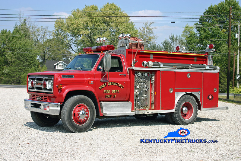 <center> RETIRED <br> East Bernstadt  Engine 3 <br> 1987 GMC 7000/E-One 500/500 <br> Kent Parrish photo <br> </center>
