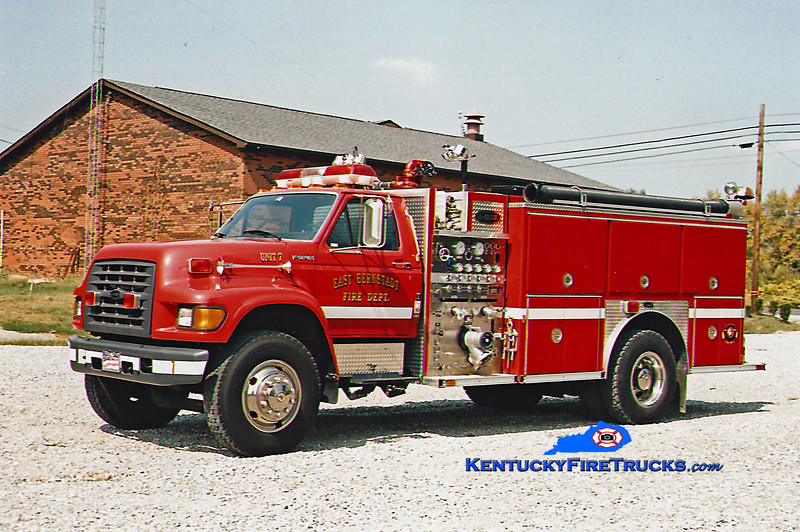 <center> RETIRED <br> East Bernstadt  Engine 7 <br> 1997 Ford F-800/E-One 1250/1000 <br> Kent Parrish photo <br> </center>