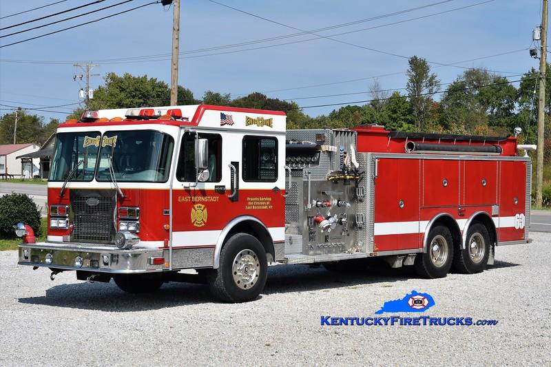 East Bernstadt  Engine 63<br /> x-Emmitt Twp, MI<br /> 1997 Spartan/General Safety 1750/2500<br /> Greg Stapleton photo