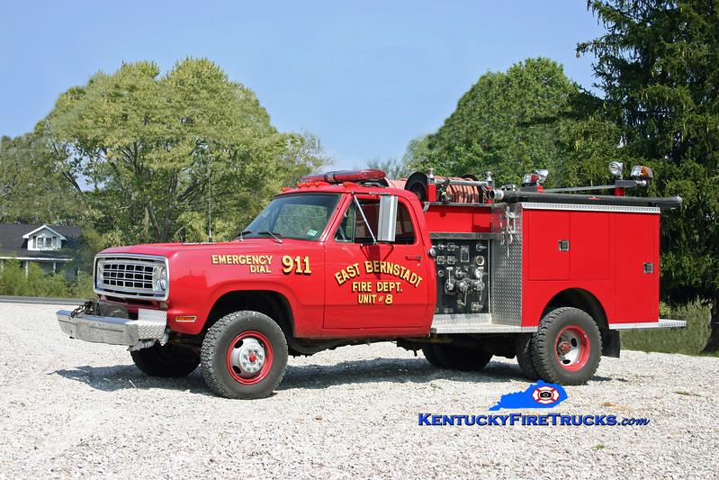<center> RETIRED <br> East Bernstadt  Engine 8 <br> x-Prospect, PA <br> 1976 Dodge 4x4/Pierce 350/250 <br> Kent Parrish photo <br> </center>