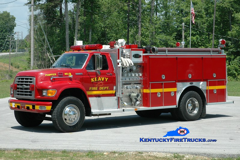 <center> Keavy Pumper 3 <br> 1994 Ford F-800/E-One 1250/1000 <br> Greg Stapleton photo </center>