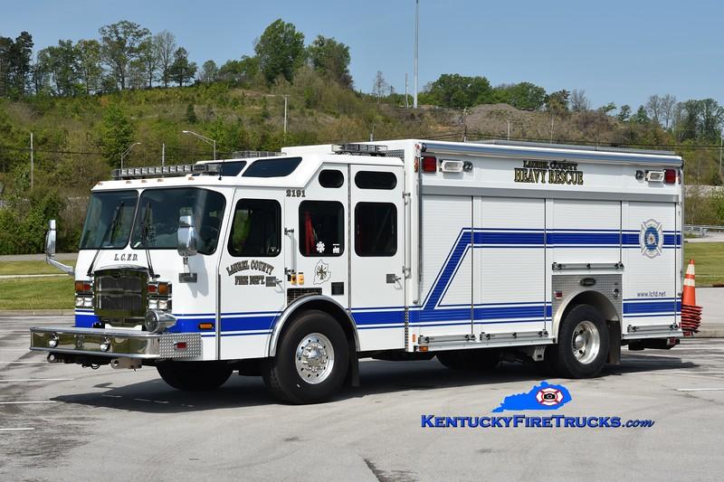 Laurel County Heavy Rescue 2191<br /> 2005 E-One Typhoon<br /> Greg Stapleton photo