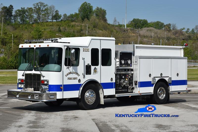 Laurel County Engine 2121<br /> x-Kiowa, CO<br /> 2002 HME/Central States 1500/1000/30<br /> Greg Stapleton photo