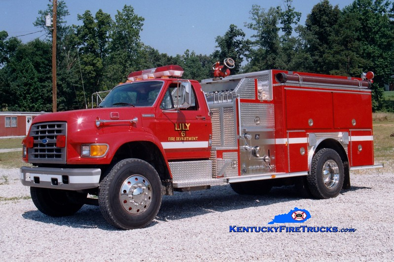<center> RETIRED <br> Lily  Engine 5126 <br> 1995 Ford F-800/E-One 1250/1000 <br> Greg Stapleton photo </center>
