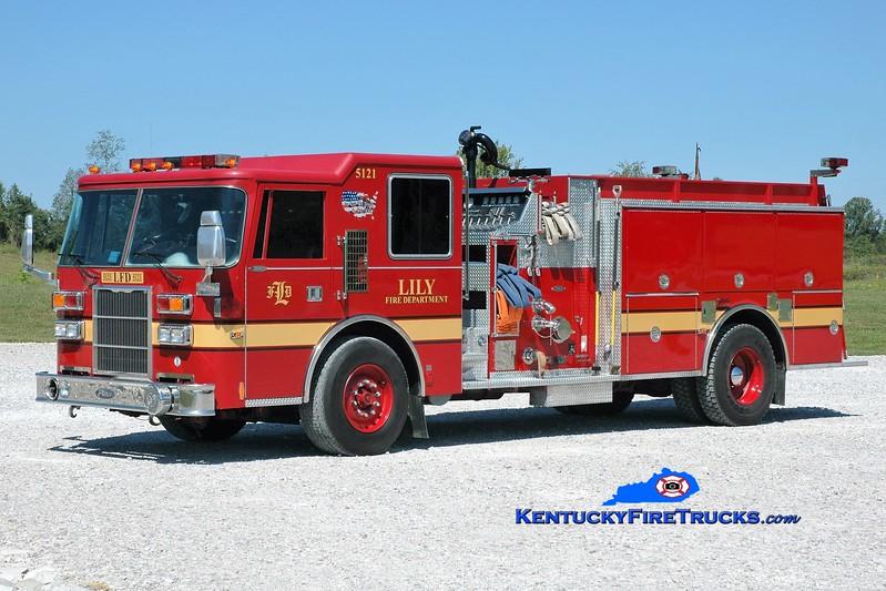 Lily  Engine 5121<br /> x-Merrillville, IN<br /> 1994 Pierce Dash 1500/1000<br /> Greg Stapleton photo