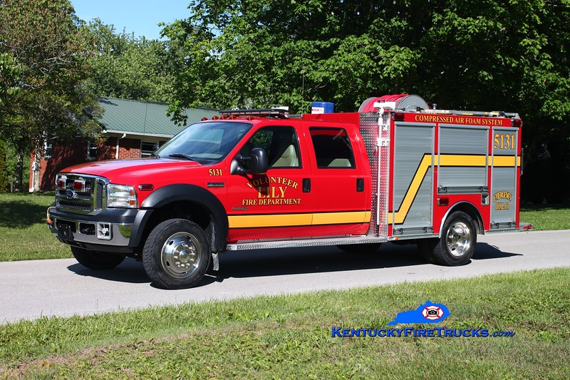 <center> Lily CAFS Unit 5131  <br> 2005 Ford F-550 4x4/Wynn 300/300/CAFS/30 <br> Kent Parrish photo </center>