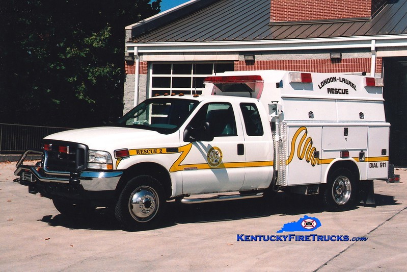 <center> London-Laurel Rescue 2 <br> 2003 Ford F-550 4x4/Reading-Fouts Bros <br> Greg Stapleton photo </center>