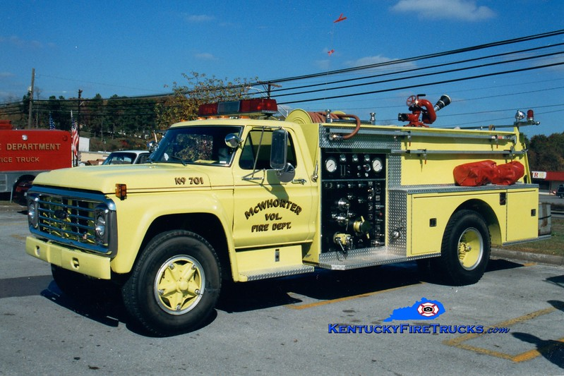 <center> RETIRED <br> McWhorter  Engine 701 <br> 1978 Ford F/Pierce 750/750 <br> Greg Stapleton photo </center>