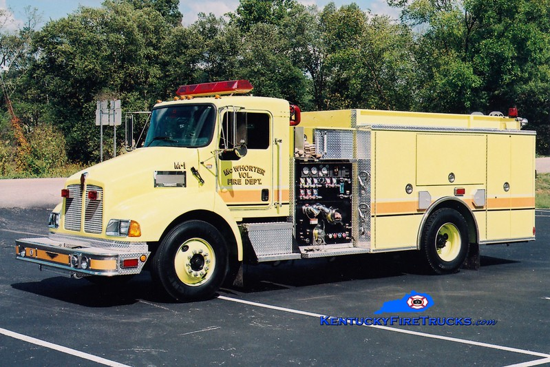 <center> McWhorter  Engine 1 <br> 2004 Kenworth T-300/Pierce 1250/1000 <br> Greg Stapleton photo </center>