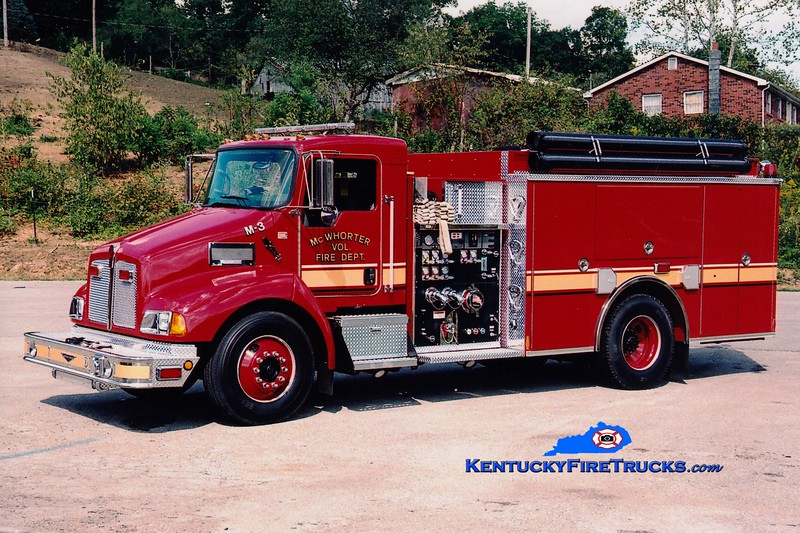 <center> McWhorter  Engine 3 <br> 2007 Kenworth T-300/Pierce 1250/1000 <br> Greg Stapleton photo </center>