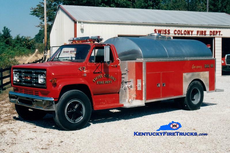 <center> RETIRED <br> Swiss Colony Tanker 7 <br> 1983 GMC/Bluegrass 450/2000 <br> Greg Stapleton photo </center>