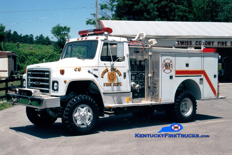 RETIRED <br /> Swiss Colony  Engine 5<br /> 1980 International S 4x4/Pierce 400/500<br /> Greg Stapleton photo