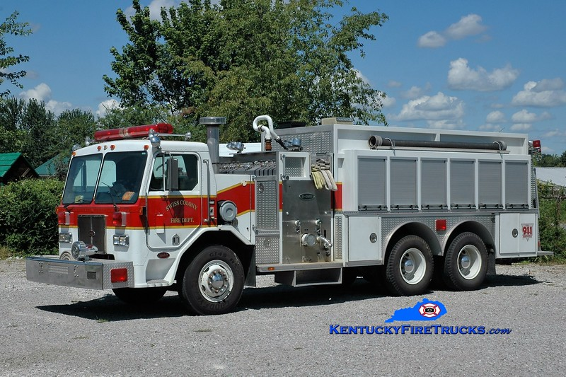 Swiss Colony  Tanker 6<br /> x-Palm Beach County, FL<br /> 1991 Peterbilt/E-One 1250/2500<br /> Greg Stapleton photo