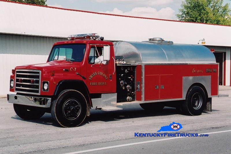 <center> RETIRED <br> Swiss Colony  Tanker 7 <br> 1988 International S/Local 250/2000 <br> Greg Stapleton photo </center>