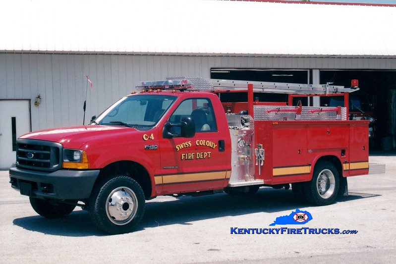 <center> Swiss Colony  Engine 4 <br> 1994 Ford F-450/Knapheide 400/500 <br> Greg Stapleton photo </center>