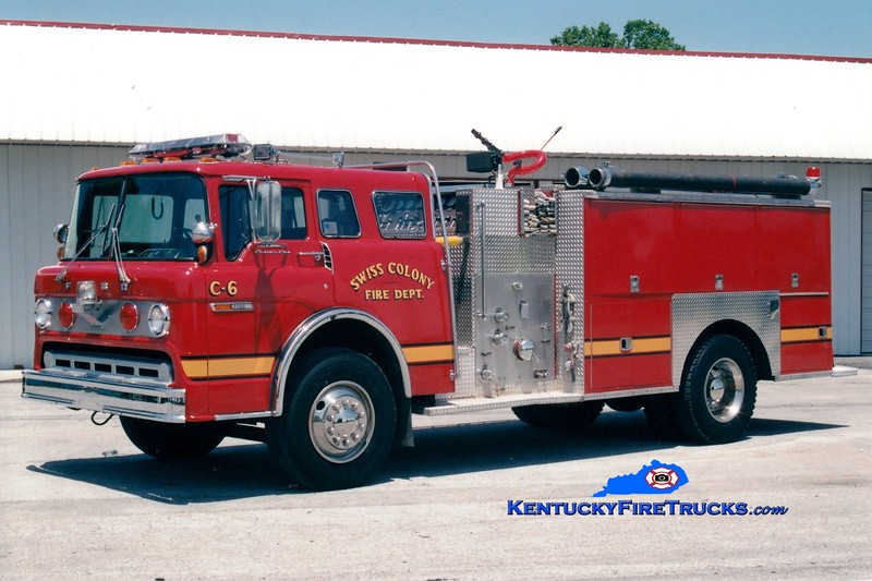 <center> RETIRED <br> Swiss Colony  Engine 6 <br> 1978 Ford C/Pierce 1000/1000 <br> Greg Stapleton photo </center>