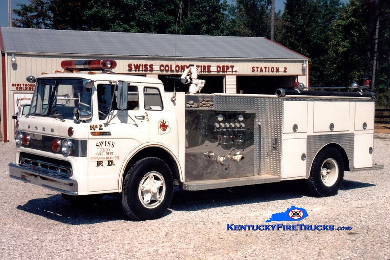 <center> RETIRED <br> Swiss Colony Engine 2 <br> x-Laurel County, KY <br> 1968 Ford C/Central-St. Louis 750/1000 <br> Greg Stapleton photo </center>