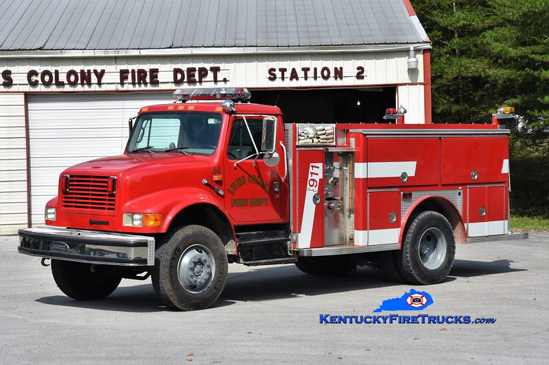 Swiss Colony  Brush 5<br /> 1995 International 4800 4x4/2018 SFD/E-One 400/750<br /> Greg Stapleton photo