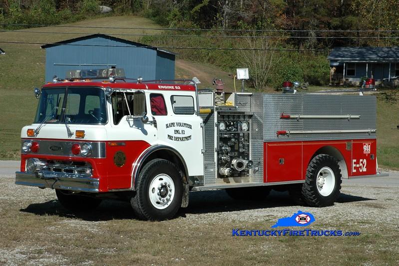 Blaine  Engine 52<br /> x-Newark Twp, OH<br /> 1981 Ford C-850/Pierce 1000/1000<br /> Greg Stapleton photo