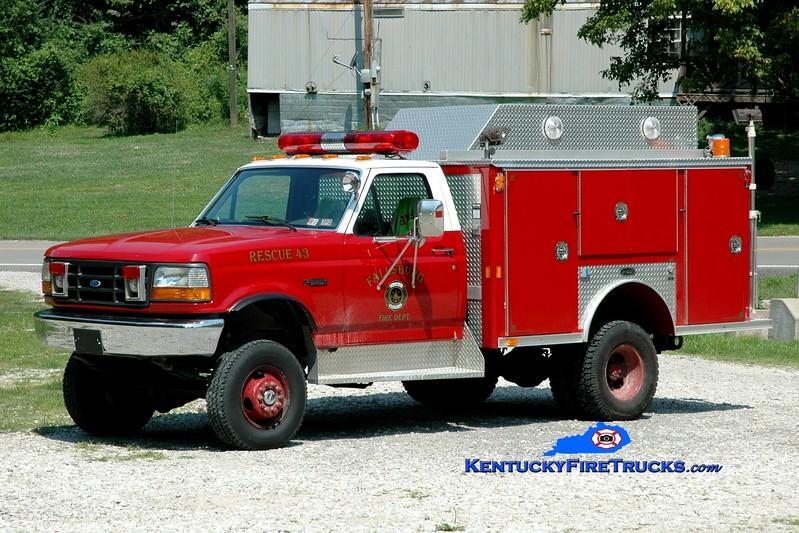 <center> Fallsburg  Engine 43  <br> x-Stamford, CT <br> 1991 Ford F-350 4x4/E-One  <br> Greg Stapleton photo </center>