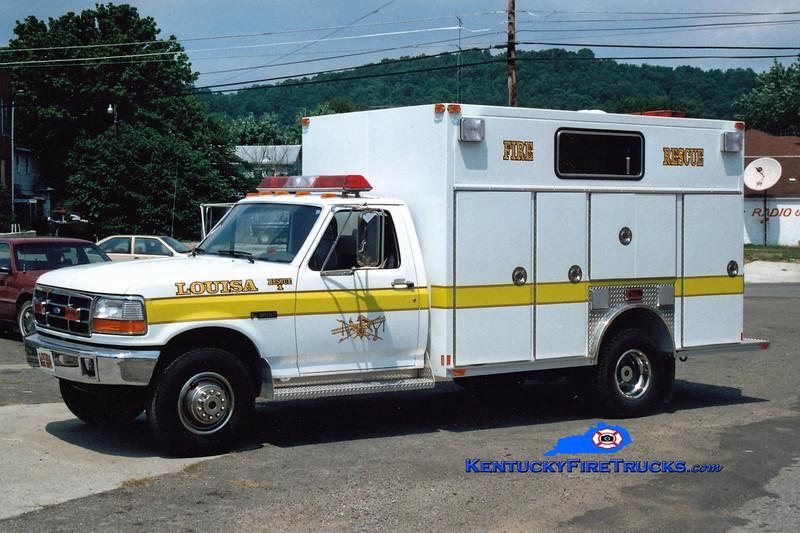 <center> Louisa  Rescue 1  <br> 1994 Ford F-350/Allegheny  <br> Greg Stapleton photo </center>