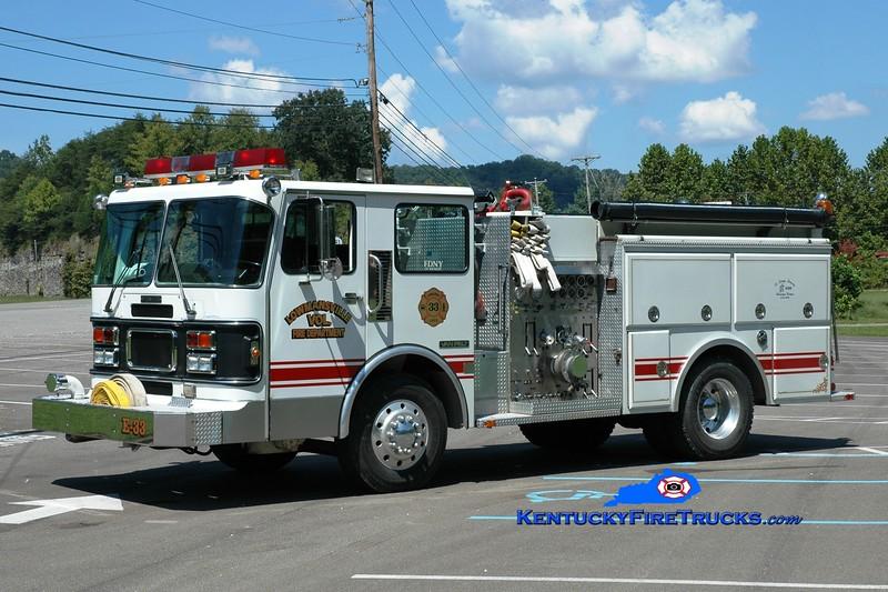 <center> Lowmansville  Engine 33  <br> 1987 Spartan/Van Pelt 1500/1000 <br> Greg Stapleton photo </center>