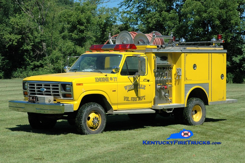 Webbville  Engine 77<br /> x-Wurtland, KY<br /> 1986 Ford F-350 4x4/Allegheny 250/250<br /> Greg Stapleton photo