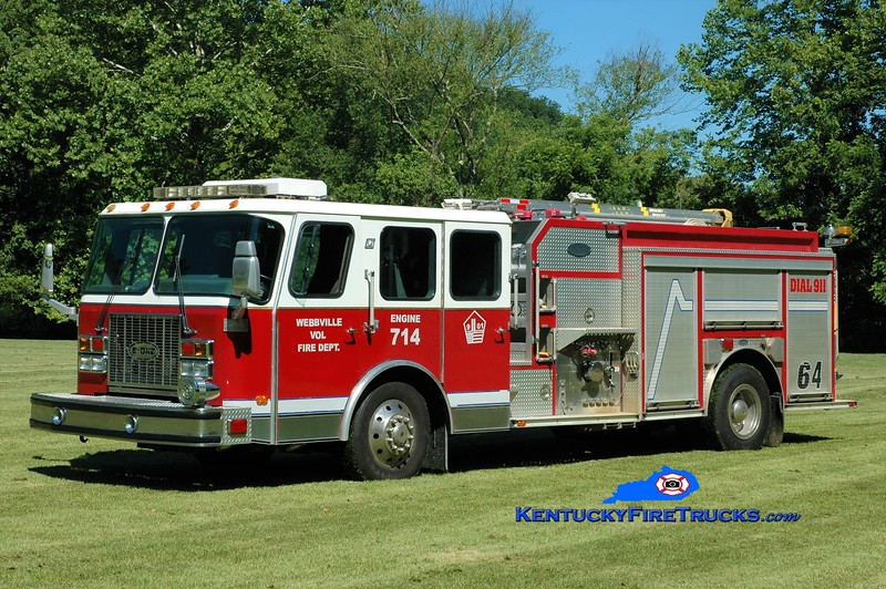 Webbville  Engine 714<br /> 1997 E-One Cyclone II 1500/1000<br /> Greg Stapleton photo