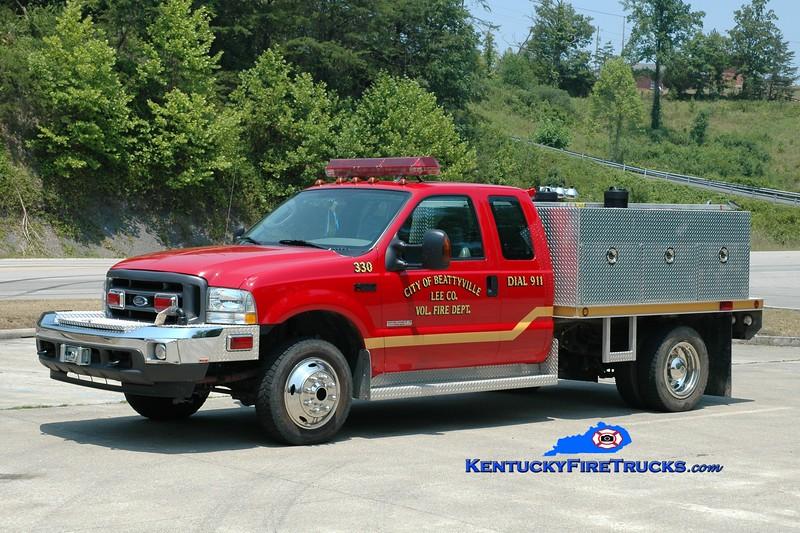 <center> RETIRED <br> Beattyville-Lee County  Brush 330  <br> 2004 Ford F-350 4x4/UPF 250/250 <br> Greg Stapleton photo <br> </center>