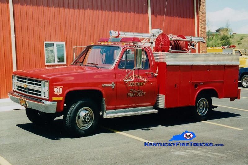 RETIRED <br /> Beattyville-Lee County  Rescue 330<br /> 1988 Chevy/Ohio Truck 50/250<br /> Greg Stapleton photo