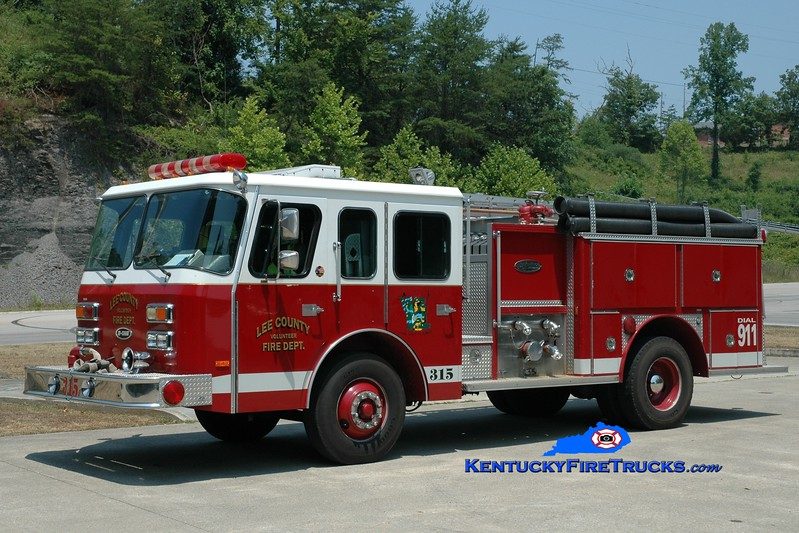 <center> Lee County  Engine 315  <br> 1990 E-One Protector 1250/750 <br> Greg Stapleton photo <br> </center>