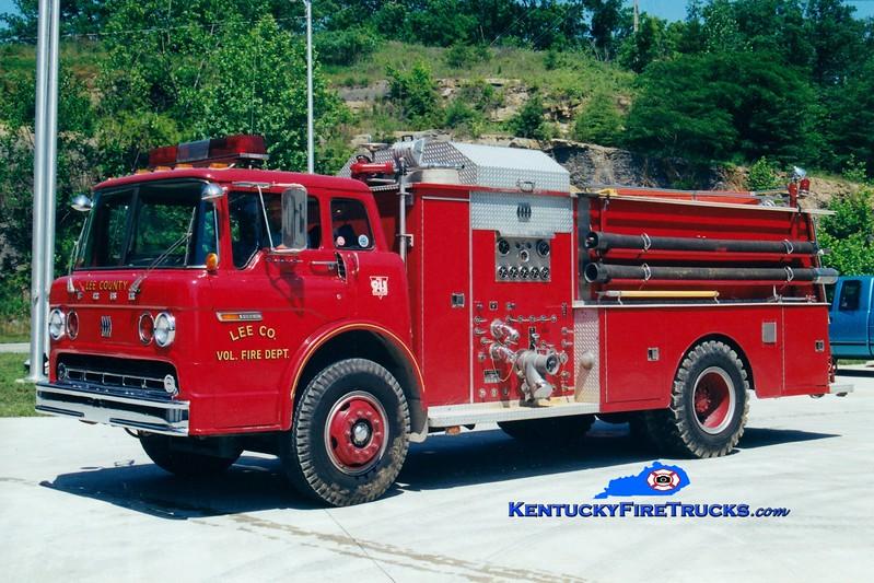 RETIRED <br /> Lee County  Engine 315<br /> 1979 Ford C/Jaco 750/1000<br /> Greg Stapleton photo