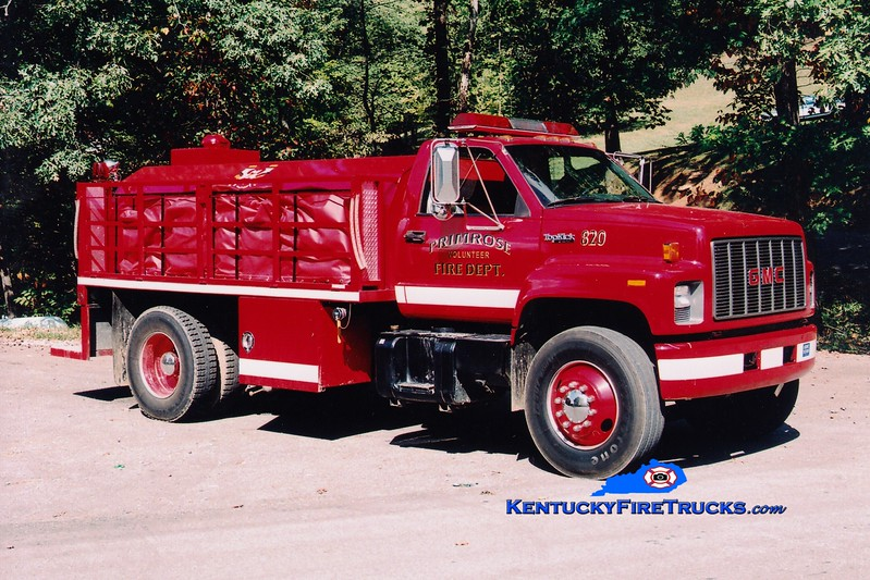 <center> Primrose  Tanker 820  <br> 1993 GMC TopKick/Deep South 250/1500 <br> Greg Stapleton photo <br> </center>