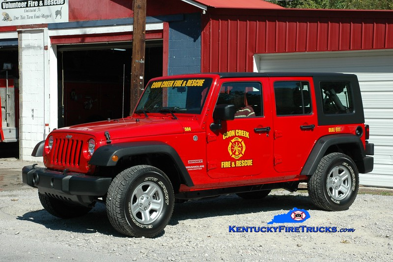 <center> Coon Creek  Rescue 504  <br> 2000 Jeep Wrangler 4x4 <br> Greg Stapleton photo </center>