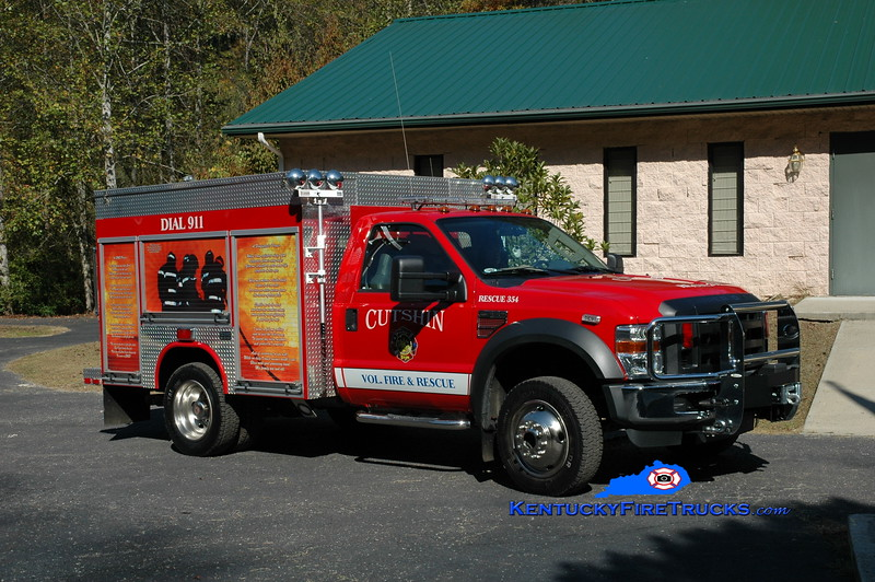 <center> Cutshin  Rescue 354 <br> 2009 Ford F-550 4x4/Fouts Bros 350/300 <br> Greg Stapleton photo </center>