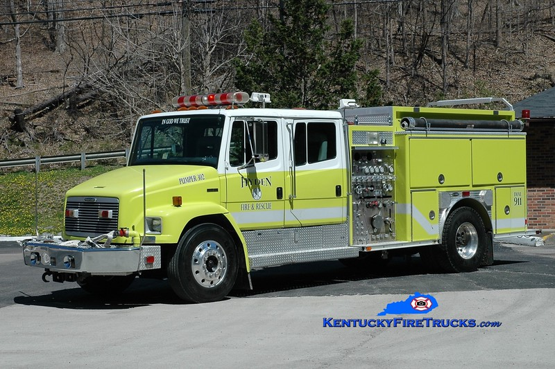 Hyden-Leslie County  Pumper 302<br /> x-Anne Arundel County, MD <br /> 1995 Freightliner FL80/E-One 1250/1000<br /> Greg Stapleton photo