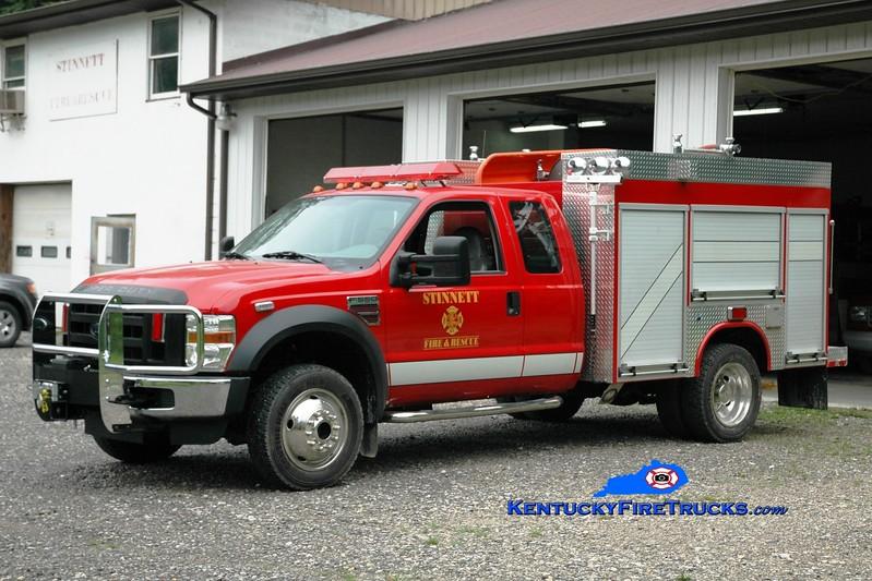 <center> Stinnett  Rescue 1  <br> 2009 Ford F-550 4x4/Fouts Bros 250/250 <br> Greg Stapleton photo <br> </center>