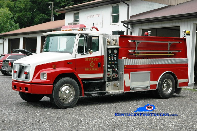 <center> Stinnett  Engine 2  <br> 1994 Freightliner FL80/Wynn 500/1800 <br> Greg Stapleton photo <br> </center>