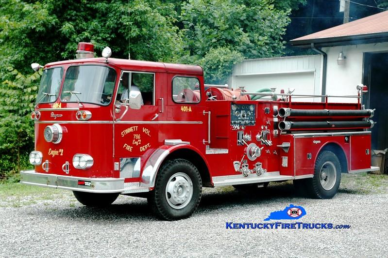 <center> Stinnett  Engine 1  <br> x-Marion, OH <br> 1960 Seagrave KB 1000/500 <br> Greg Stapleton photo <br> </center>
