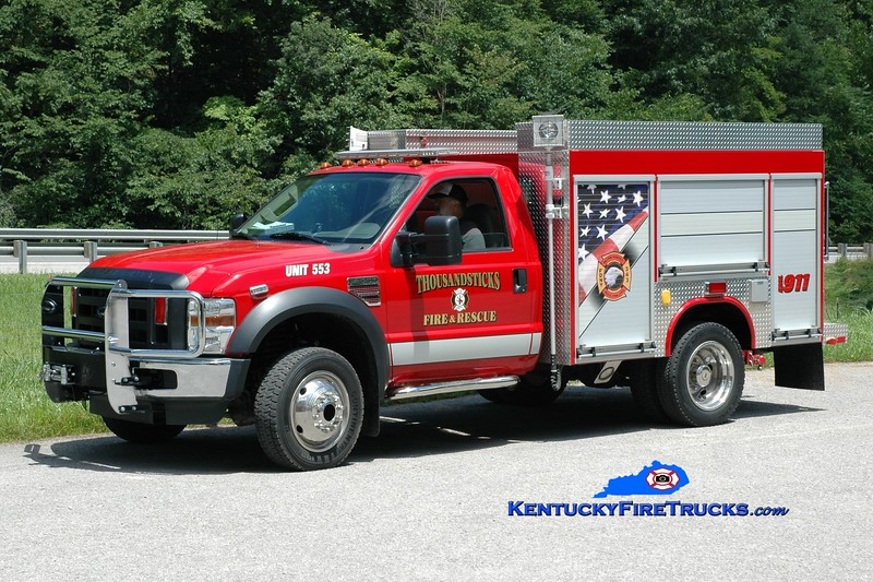 <center> Thousandsticks  Rescue 553  <br> 2008 Ford F-550 4x4/Fouts Bros 250/250 <br> Greg Stapleton photo <br> </center>