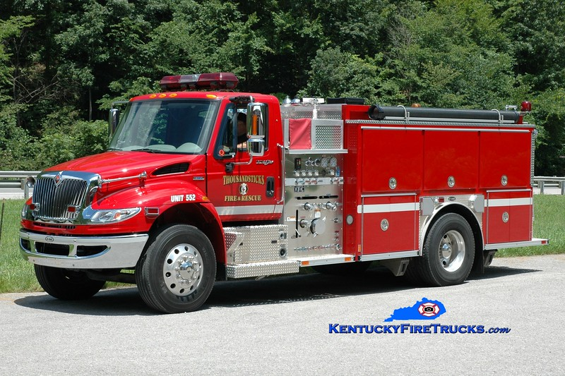 <center> Thousandsticks  Engine 552  <br> 2007 International 4400/E-One 1250/1000 <br> Greg Stapleton photo <br> </center>