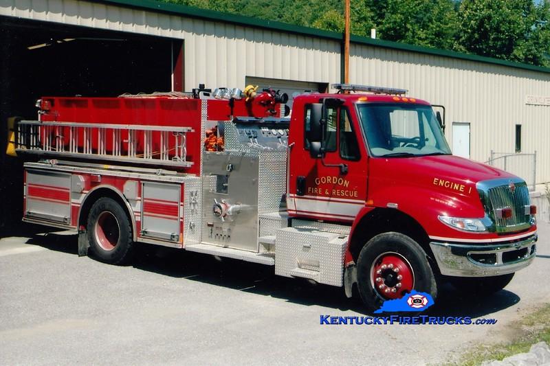 Gordon  Engine 1<br /> 2008 International 4400/Pierce<br /> 1250/1000<br /> Greg Stapleton photo