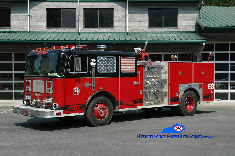 <center> RETIRED <br> Jenkins  Engine 8 <br> x-Cincinnati, OH <br> 1988 Seagrave JB 1250/500 <br> Greg Stapleton photo <br> </center>