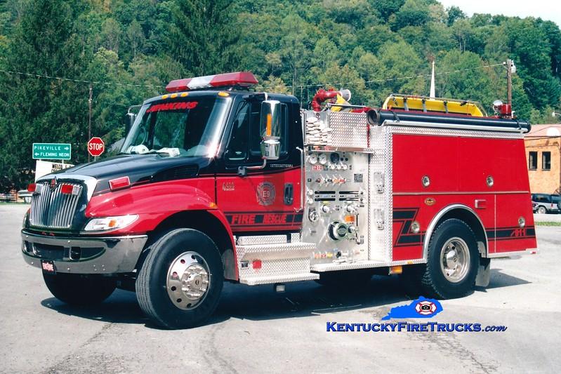 <center> Jenkins  Engine 21 <br> x-Engine 9 <br> 2002 International 4400/KME 1250/500 <br> Greg Stapleton photo <br> </center>