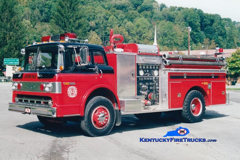 <center> RETIRED <br> Jenkins  Engine 2 <br> 1979 Ford C-900/Pierce 1000/750 <br> Greg Stapleton photo <br> </center>