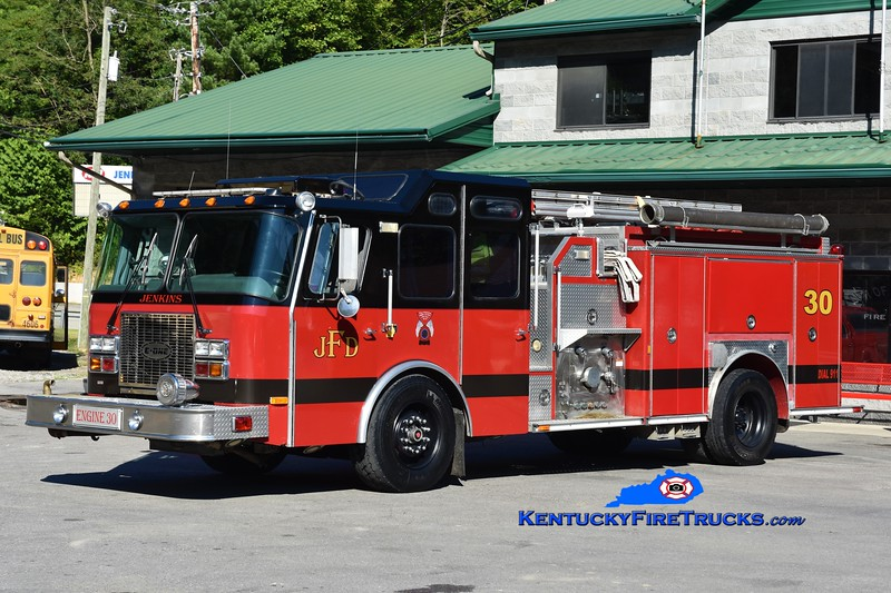 Jenkins  Engine 30<br /> x-Clay County, FL<br /> 1998 E-One Cyclone II 1250/1000<br /> Greg Stapleton photo